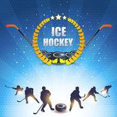 Sfondo vettoriale del hockey di ghiaccio — Vettoriale Stock