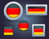 Metallic National flag set Germany — Stock Vector