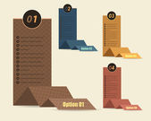 Wektor tle numer opcji transparent origami styl — Wektor stockowy