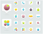 Clean Vector Icon Set 04 — Stock Vector