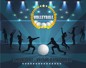 Volleyball Vector Background — Stock Vector