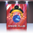Club Flyer Vector Template — Stock Vector