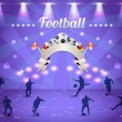 Soccer Vector Background — Vettoriali Stock