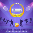 Royalty-Free Stock Vector Image: Tennis Shield Vector Design