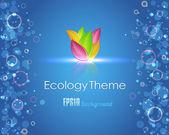 Ecology Theme Vector Design — Stock Vector
