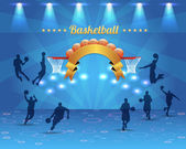 Abstract Background Basketball Vector Design — Stock Vector