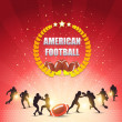 American Football Shiny Background — Stok Vektör