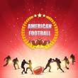 American Football Shiny Background — Vektorgrafik