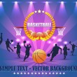 Abstract Background Basketball Vector Design — Vettoriali Stock