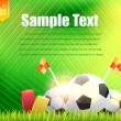 Football Background Template Vector Design — Vettoriali Stock