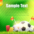 Football Background Template Vector Design — Stockvektor