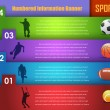 Numbered Information Sport Banner Vector Design — Stock vektor