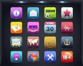 Conception de vecteur icône apps — Vecteur