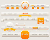 Vektor-header-menü-design — Stockvektor