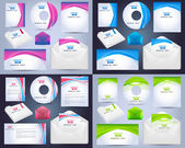 Corporate Identity Template Vector Design — Cтоковый вектор