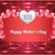 Happy Mother's Day Vector Design - Stok Vektör