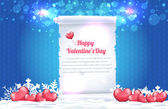 Valentine Day Textable background vector — Stock Vector