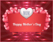 Happy Mother's Day Vector Design — Cтоковый вектор