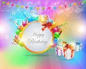 Happy Birthday Vertical Card Vector Design — Stock Vector