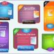 Web Banner Offer Set — Stock Vector