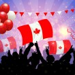 National Celebration Vector Canada — Stock Vector