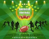 American Football Vector Design — Stock Vector