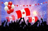 National Celebration Vector Canada — Stock Vector