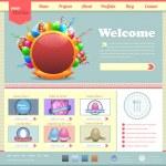 Vintage Website design vector elements — Stock Vector