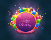 Abstract Birthday background vector — ストックベクタ