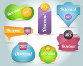 Set of colorful Discount vector Icon Banner 02 — Stock Vector