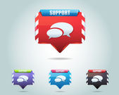 Support Vector Icon Button — Vector de stock