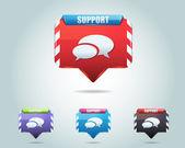 Support Vector Icon Button — Stock Vector