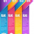 Stock vektor: Vector Background Number Options Banner & Card