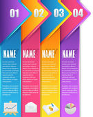 Vector Background Number Options Banner & Card — Stockvektor