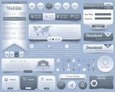 Web öğeleri tasarım kümesi vektör — Stok Vektör