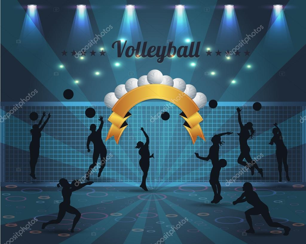 Stock Illustration Volleyball Tribal Abstract Vector: Abstract Background Volleyball Vector Design