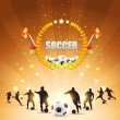 Soccer Shiny Background — Stock Vector