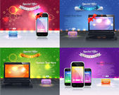 Web Banner Template Vector Design — Vettoriale Stock