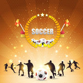 Soccer Shiny Background — Stok Vektör