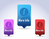 3d Vector Panel Info Button Icon Multicolored — Stock Vector