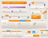 Web Elements Vector Design Set — Stock Vector