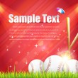 Baseball Theme Shiny Sky Vector Design — Image vectorielle