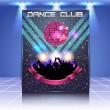 Dance Club Flyer Vector Template — Vettoriali Stock