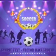 Soccer Shiny Background — Image vectorielle