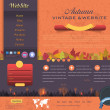 ストックベクタ: Autumn Vintage Style Website design vector elements
