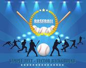 Baseball Theme Vector Design — Stock Vector