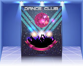 Dance Club Flyer Vector Template — ストックベクタ