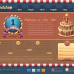 Sweet Shop Style Website design vector elements — Stock Vector #16245969