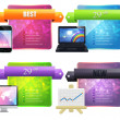Web Banner Vector Set — Image vectorielle