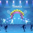 Tennis Shiny Background — Stock Vector